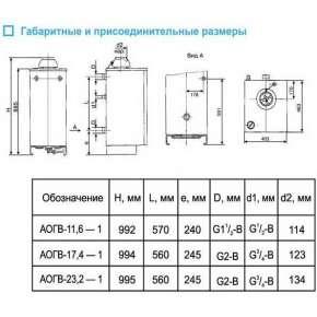 Газовый котел АОГВ Боринское 29 кВт
