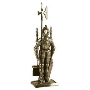 Набор каминный  К3050A  (Рыцарь, 4 предмета, античная латунь)