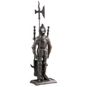 Набор каминный  К3050B  (Рыцарь, 4 предмета, черный )