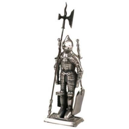 Набор каминный  К3050S  (Рыцарь, 4 предмета, серебро ) - ПечиМАКС