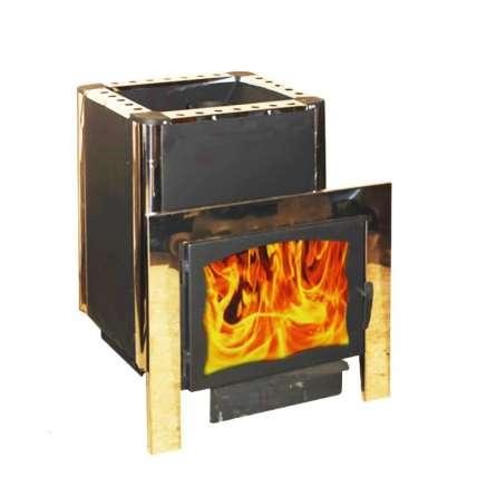 Печь Березка-горизонталь со стеклом - ПечиМАКС