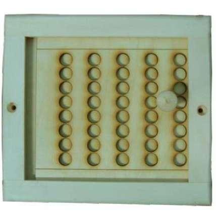 Вентиляционная решетка малая с задвижкой (РВЗ-М) - ПечиМАКС