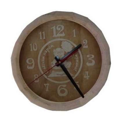 Часы бочонок С легким паром, мужики! (большие) (ЧБ-1Б) - ПечиМАКС