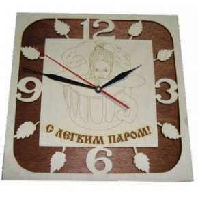 Часы резные С ЛЕГКИМ ПАРОМ (ЧР-Л)