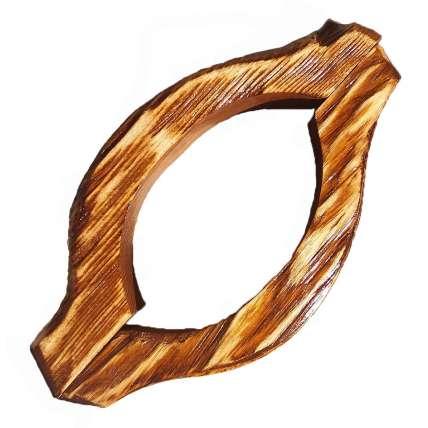 Ручка дверная деревянная состаренная дуга (пара) - ПечиМАКС