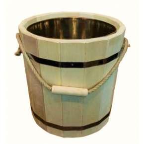 Ведро для бани 10 л с нерж. вставкой  (ВН-10)