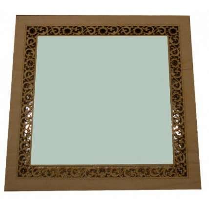 Зеркало квадратное (малое) резное (ЗК-1М) - ПечиМАКС