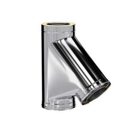 Craft HF-50 сэндвич-тройник 45° (316/0,8/304/0,5) Ф130х230 - ПечиМАКС