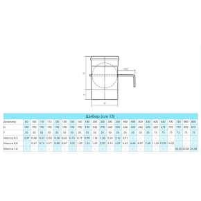 Craft HF шибер (316/0,8) Ф130