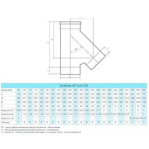 Craft HF тройник 45° (316/0,8) Ф200