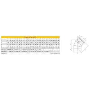 Craft отвод 45° (316/0,8) Ф250