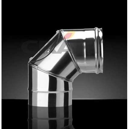 Craft колено 90° с лючком-ревизией (316/0,8) Ф110 - ПечиМАКС