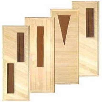 Дверь стеклопакет 1,7*0,7м с петлями (ТВ) - ПечиМАКС
