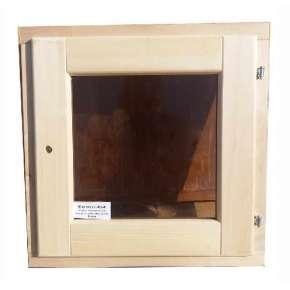 Форточка для бани Дорвуд (DoorWood) 30х30 стеклопакет