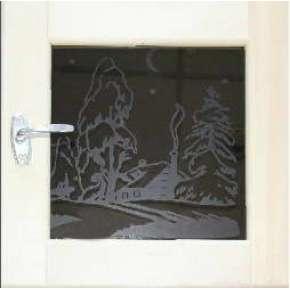 Окно для бани DoorWood 40х40 термозакалённое стекло 8 мм серия ART