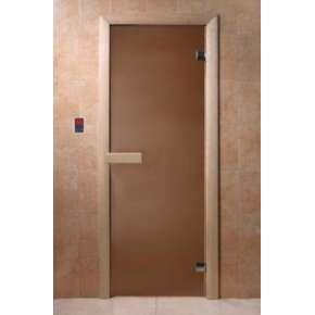 Дверь DoorWood Бронза матовая 6 мм, 2 петли
