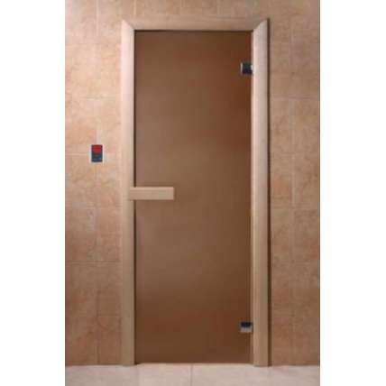 Дверь DoorWood Бронза матовая 6 мм, 2 петли - ПечиМАКС