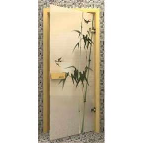 Стеклянная дверь для бани souvi «элит» Бамбук 190х70