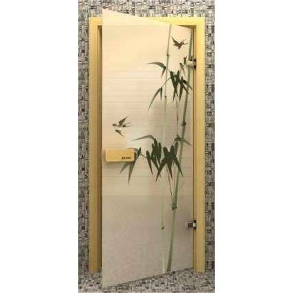 Стеклянная дверь для бани souvi «элит» Бамбук 190х70 - ПечиМАКС