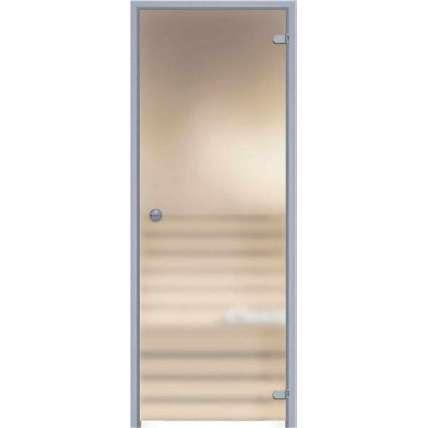 Стеклянная дверь для бани souvi «алюм. коробка» белая матовая 190х70 (прав.) - ПечиМАКС