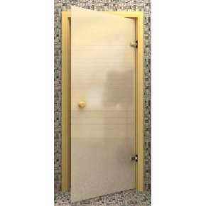 Стеклянная дверь для бани souvi белая матовая 190х70