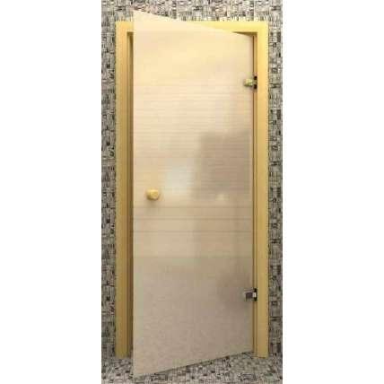 Стеклянная дверь для бани souvi белая матовая 190х70 - ПечиМАКС