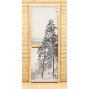 Стеклянная дверь для бани souvi «элит» берег камы 190х70