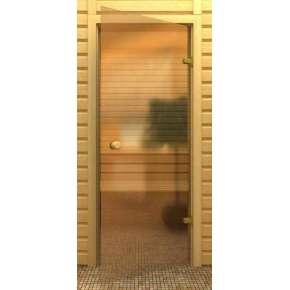 Стеклянная дверь для бани souvi бронза 180х60