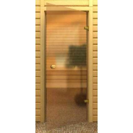 Стеклянная дверь для бани souvi бронза 180х60 - ПечиМАКС