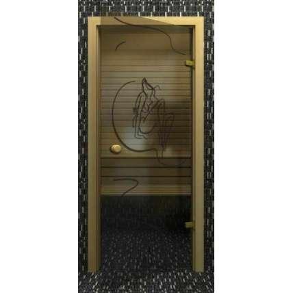 Стеклянная дверь для бани souvi Элина 190х70 - ПечиМАКС