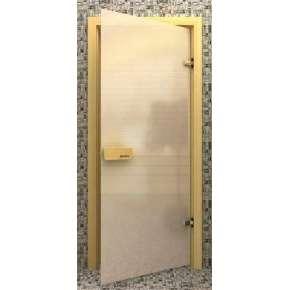 Стеклянная дверь для бани souvi «элит» белая матовая 190х70