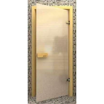 Стеклянная дверь для бани souvi «элит» белая матовая 190х70 - ПечиМАКС