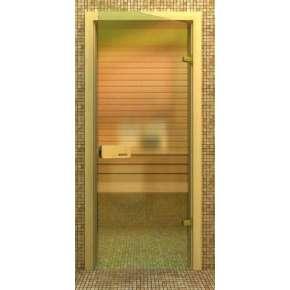 Стеклянная дверь для бани souvi «элит» бронза 190х80