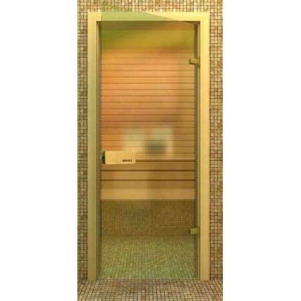 Стеклянная дверь для бани souvi «элит» бронза 190х80 - ПечиМАКС