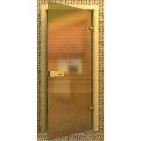 Стеклянная дверь для бани souvi «элит» бронза матовая 190*70