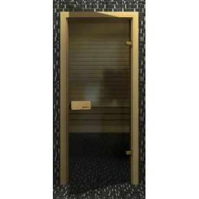 Стеклянная дверь для бани souvi «элит» серая 190х70