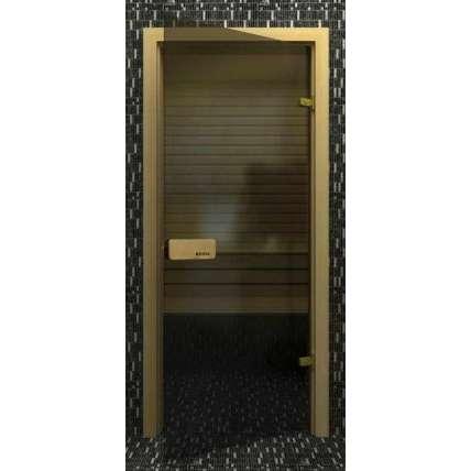 Стеклянная дверь для бани souvi «элит» серая 190х70 - ПечиМАКС