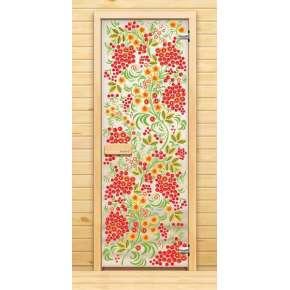 Стеклянная дверь для бани souvi «элит» Рябина 190х70
