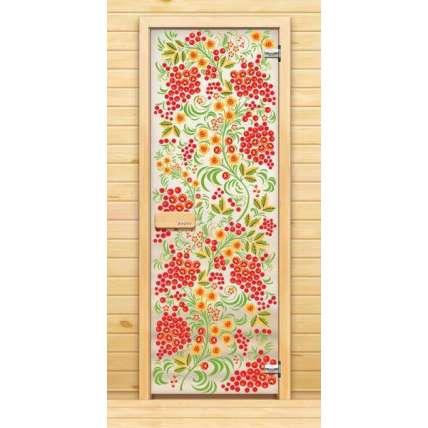 Стеклянная дверь для бани souvi «элит» Рябина 190х70 - ПечиМАКС