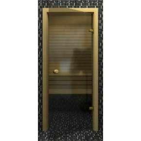 Стеклянная дверь для бани souvi серая 190х70