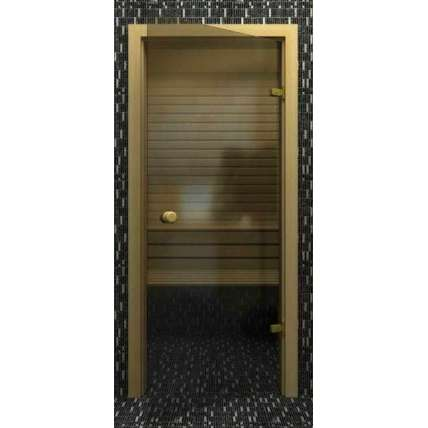 Стеклянная дверь для бани souvi серая 190х70 - ПечиМАКС