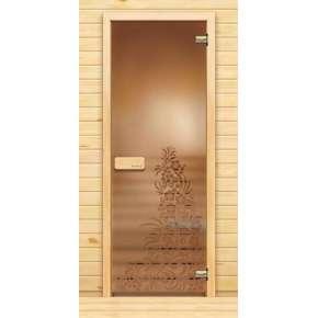 Стеклянная дверь для бани souvi «элит» Хохлома 190х70