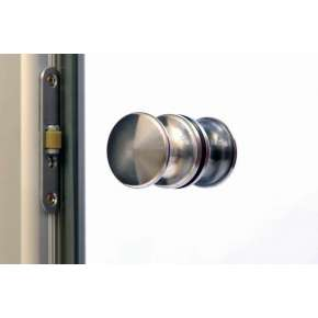 Стеклянная дверь для бани souvi «алюм. коробка» белая матовая 190х70 (прав.)