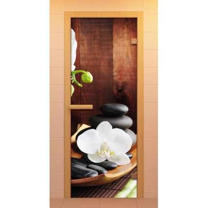 Дверь д/сауны ALDO 790х1990 c фотопечатью - ПечиМАКС
