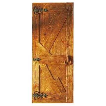 Дверь банная глухая состарен. (ДГПС-5) рван.+ручки - ПечиМАКС