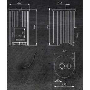 Печь Ферингер Уют 25 (ПФ) (Змеевик наборный)