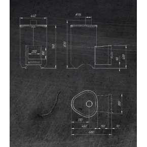 Печь Ферингер Мини в комплекте - Дуб (ПФ) Антик