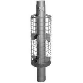 Дымоход-конвектор с сеткой для камней D115 мм L 1м