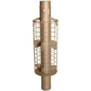 Дымоход 4 ребра с сеткой ф115 L 1м