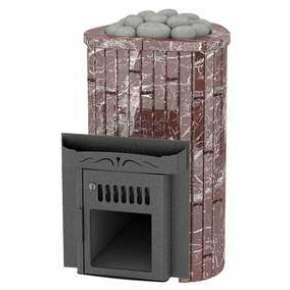 Печь Ламель МИНИ Открытая Каменка обрамление мрамор